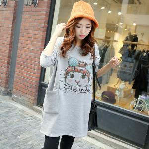 Cute cat pullover loose sweaters