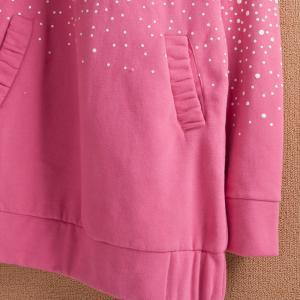 Cute dot bow hoodie,pink sweater