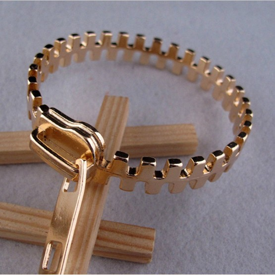 Retro Zipper Bracelets Personalized Jewelry Gold Bracelet For Las