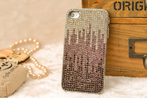 e975eb7544 cool iphone 4s case luxury iphone 5s case, iphone4 cover otterbox women men  girl Bling iphone 4 case sparkle stud iphone5 cover free gift